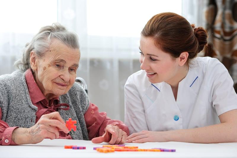 bigstock-Senior-Woman-With-Her-Elder-Ca-69141340
